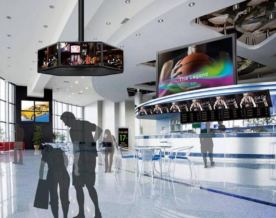 digital signage sinema kullanım