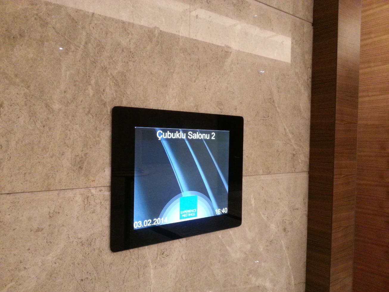 Konferans salonu bilgi ekranı