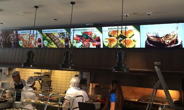 Develi Corner Restaurant Menuboard Videowall