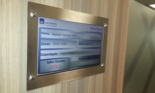 AXA Sigorta Ankastre Toplantı Salonu Ekranı ve Yaazılım
