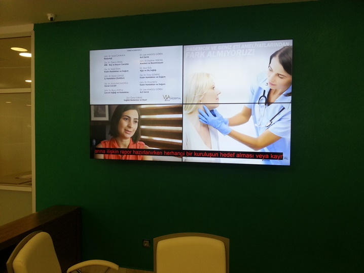 via hospital videowall