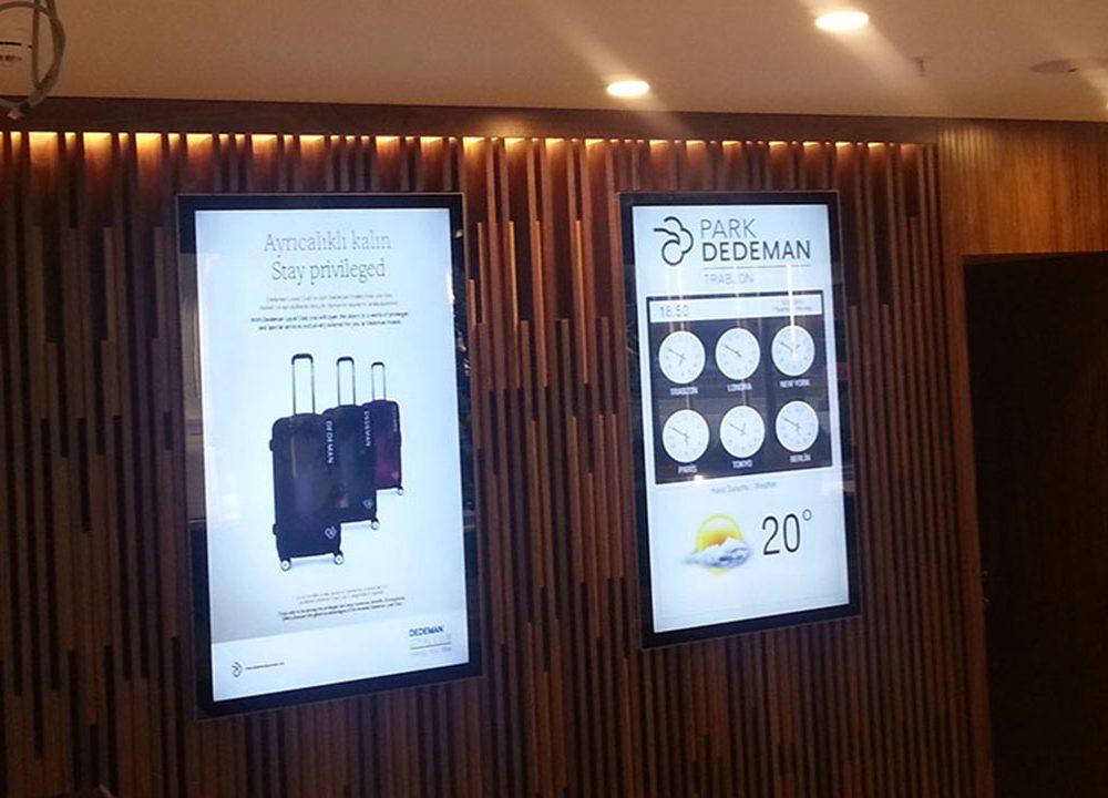 Dedeman Park Trabzon Otel Digital Signage ve Toplantı Salonu Rezervasyon Sisteminde Temas Teknoloji' yi Tercih Etti