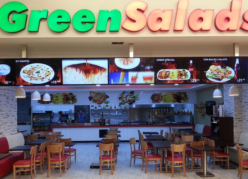 Green Salads MenuBoard