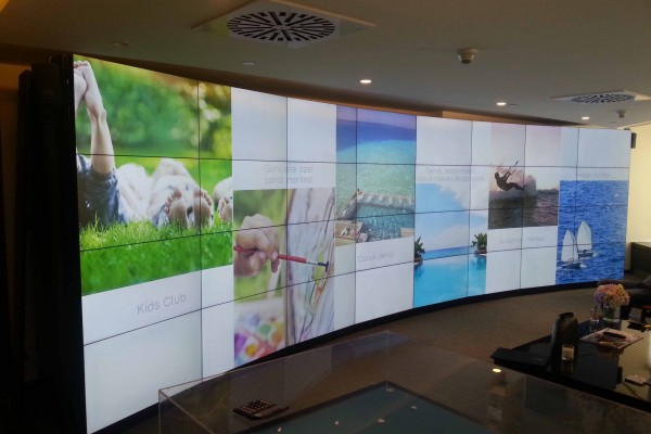 Nef Özel Tasarım Curved Video Wall
