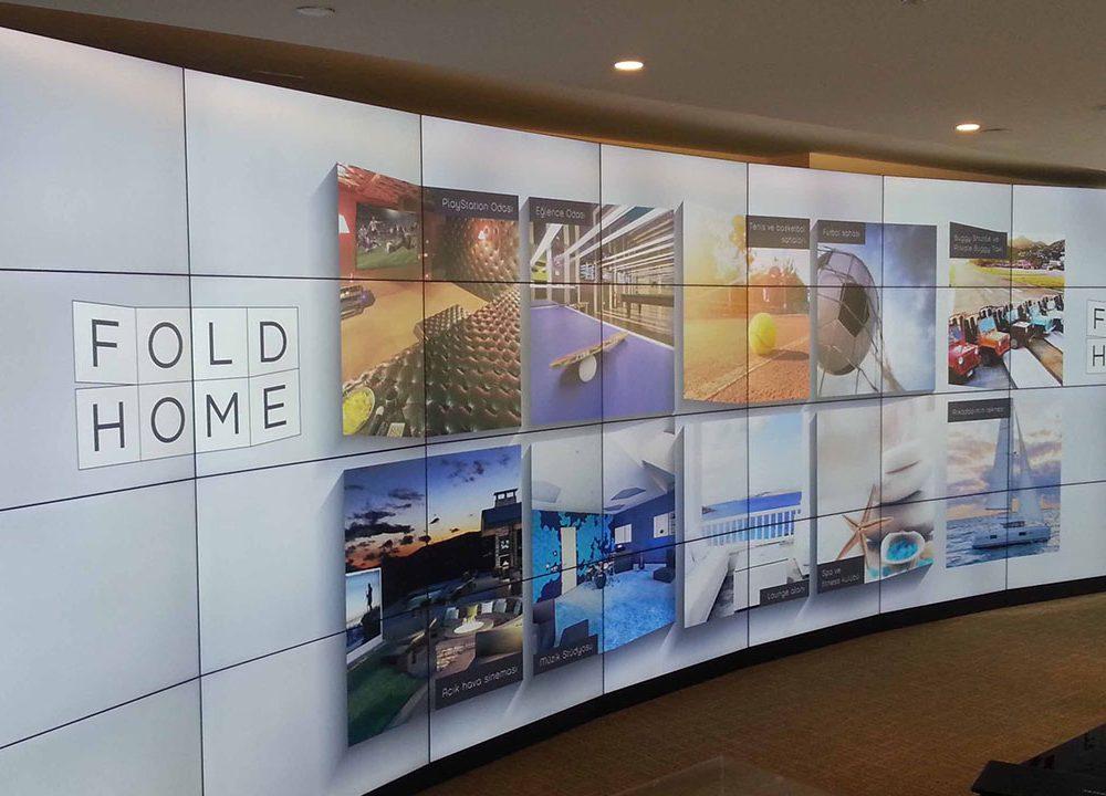 Nef Özel Tasarım Curved Video Wall Projesi Tamamlandı