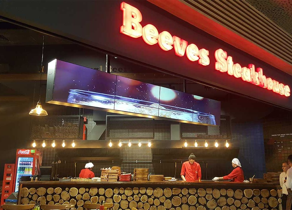 Beeves SteakHouse Emaar MenuBoard Uygulaması