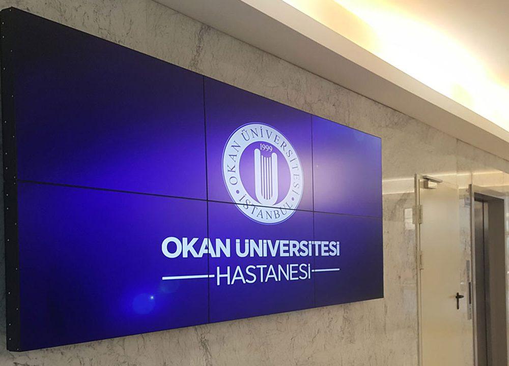 Okan Üniversitesi 2 X 3 Videowall ve Doktor Kapı Ekranları Projelesi Tamamlandı