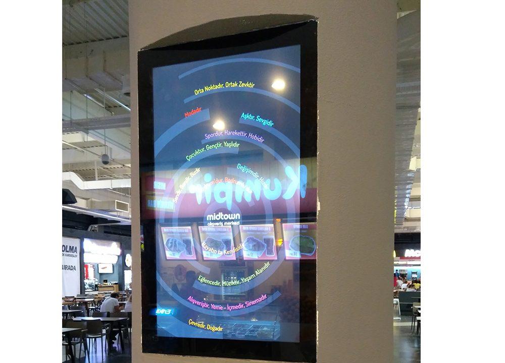 Midtown AVM Digital Signage Çözümlerinde Temas Teknoloji' yi Tercih Etti