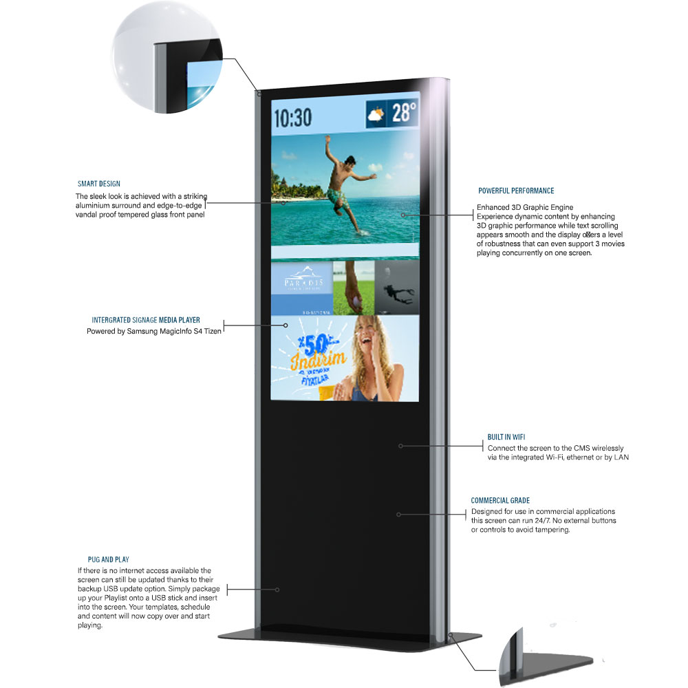 Minerra Advertising Display - Digital Signage | TEMAS TEKNOLOJİ